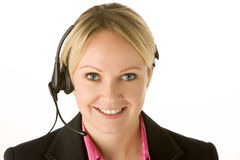 Customer Service Representative With Headset. Smiling Stock Photography