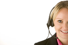 Customer Service Representative With Headset Royalty Free Stock Photo