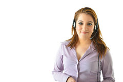 Customer Service Representative. Looking straight and smiling Stock Images