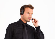 Customer service representative man Stock Image
