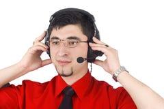 Customer service representative man Royalty Free Stock Photo