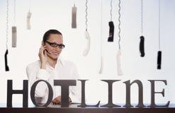Customer Service Representative On Phone. Royalty Free Stock Image
