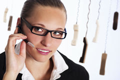 Customer service representative on phone. Stock Photos