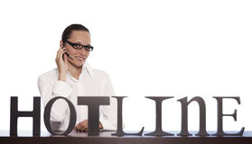 Customer service representative on phone. Royalty Free Stock Photos