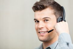 Customer Service Representative Speaking With Royalty Free Stock Photos