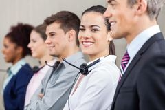 Customer Service Representative Standing With Royalty Free Stock Photography