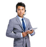 Customer service representative with tablet Royalty Free Stock Photo