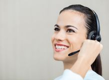 Customer Service Representative Talking On Royalty Free Stock Photography