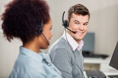 Customer Service Representative Talking With Royalty Free Stock Images