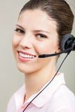 Customer Service Representative Using Headset Royalty Free Stock Photography