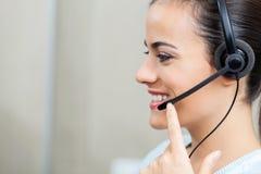 Customer Service Representative Using Headset Stock Photos