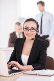 Customer service representative at work. Royalty Free Stock Images