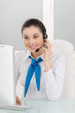 Customer service representative at work. royalty free stock photography