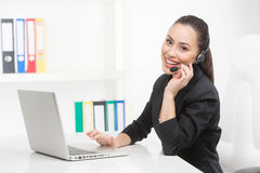 Customer service representative at work Stock Photos