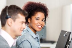 Customer Service Representative Working In Office Royalty Free Stock Images