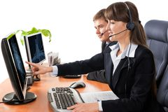 Customer service representatives Stock Photos