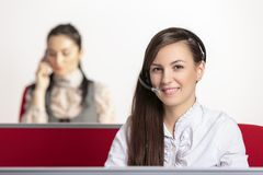 Customer service representatives Stock Image