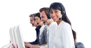Customer service representatives with headset on Royalty Free Stock Images