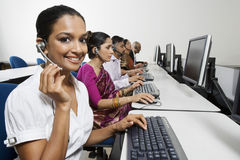 Customer Service Reps In Call Center Stock Photography