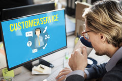 Customer Service Satisfaction Assistance Support Concept Royalty Free Stock Photography