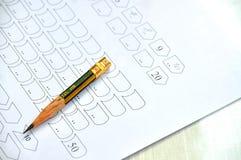 Customer service satisfaction survey. Multiple choice questionnaire checkbox on customer service satisfaction survey form Stock Image