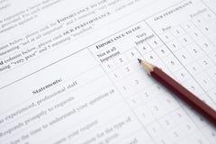 Customer service satisfaction survey form Stock Image