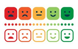 Customer Service Satisfaction Survey Form. Quality control. Rating satisfaction. Feedback in form of emotions. Excellent, good, normal, bad awful Vector Stock Image