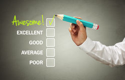 Customer service satisfaction survey Stock Image