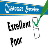 Customer service. Satisfaction survey - vector Royalty Free Stock Image