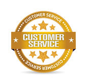 Customer service seal illustration design Royalty Free Stock Images