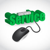 Customer service sign and mouse illustration Royalty Free Stock Photography