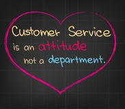 Customer Service. Sketched picture of Customer Service attitude Royalty Free Stock Images