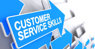 Customer Service Skills - Text on the Blue Cursor. 3D. Royalty Free Stock Photography