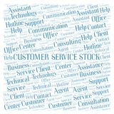 Customer Service Stock word cloud. Wordcloud made with text only royalty free stock photos