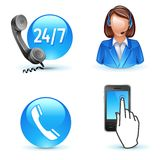 Customer service support Stock Images