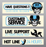 Customer service support banners Royalty Free Stock Image