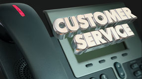 Customer Service Support Call Telephone Words Stock Image