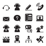 Customer Service and Support icon set Royalty Free Stock Photography