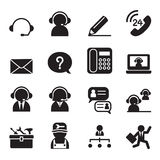 Customer Service and Support icon set. Vector illustration graphic design royalty free illustration