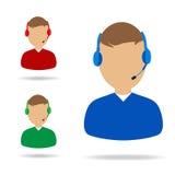 Customer Service Support Illustration. On white royalty free illustration