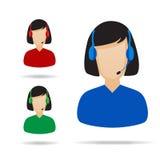 Customer Service Support Illustration. On white stock illustration