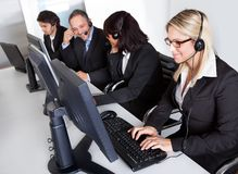 Customer service support people Stock Images