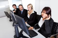 Customer service support people Royalty Free Stock Photos