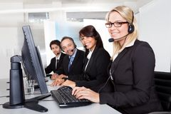 Customer service support people Stock Image