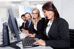 Customer service support people Stock Photography