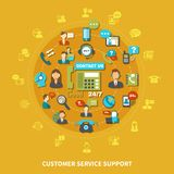 Customer Service Support Round Composition Stock Photography