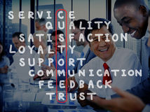 Customer Service Support Satisfaction Crossword Puzzle Concept Stock Photo