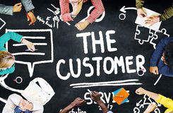 Customer Service Support Solution Assistance Aid Concept Stock Image