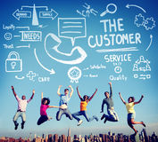 Customer Service Support Solution Assistance Aid Concept.  Stock Photography