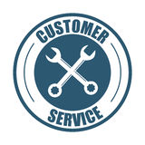Customer service support tools badge Stock Photos
